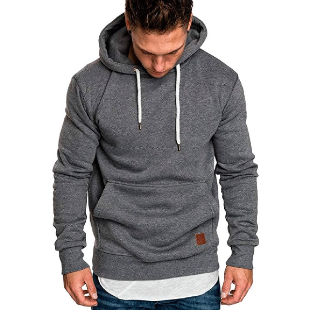 Mens Long Sleeve Autumn Winter Casual Sweatshirt Hoodies Top Blouse
