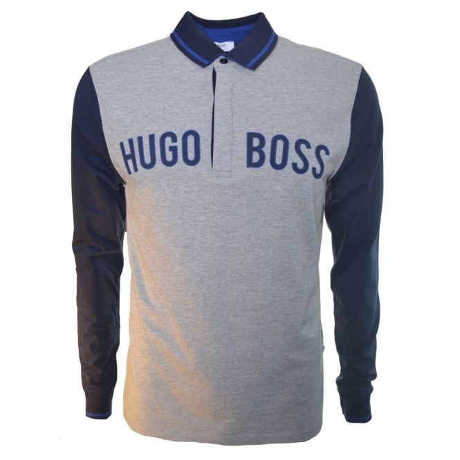 hugo boss kids long sleeve polo shirt