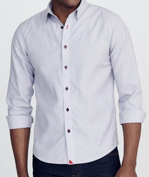 Rubican Wrinkle Free Light Grey End-on-End | UNTUCKit