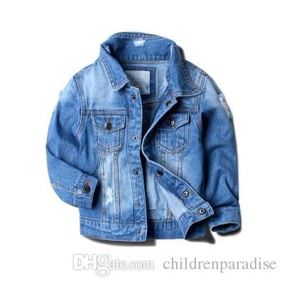 2017 Baby Boy Denim Jacket Leisure Coat Children Kids Jeans Boys