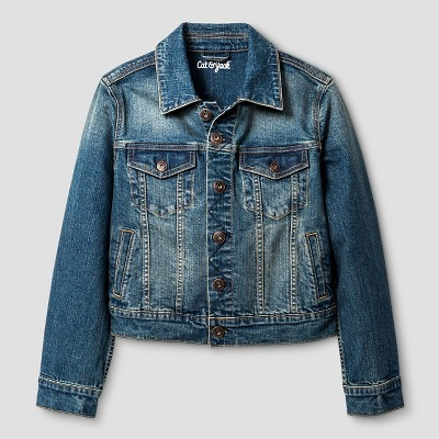 Boys' Denim Jacket - Cat & Jack™ Dark Wash : Target