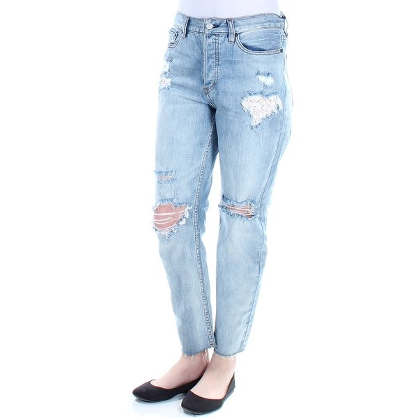 Shop Womens Blue Casual Straight leg Jeans Size 128 - Free Shipping