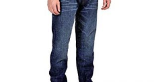 Barbour Men's Lightening Slim Tapered Jeans Size 34 Reg at Amazon
