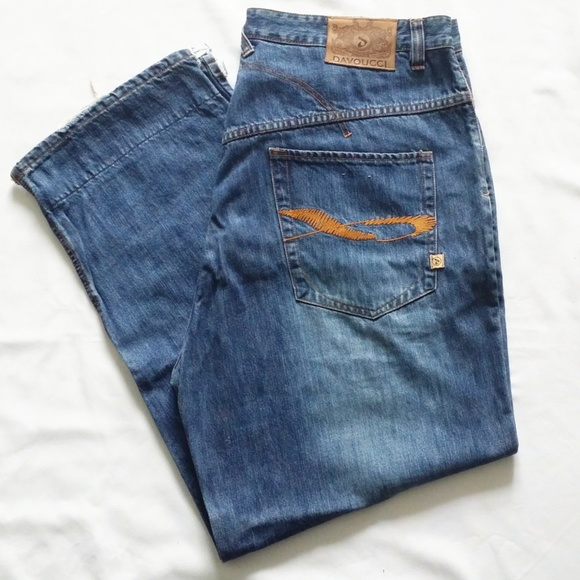 Davoucci Jeans | Stitched Design Denim In Size 44 | Poshmark