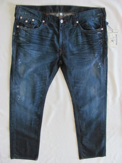 True Religion Men's Size 44 Flap Pocket SKINNY Fit Denim Jeans in