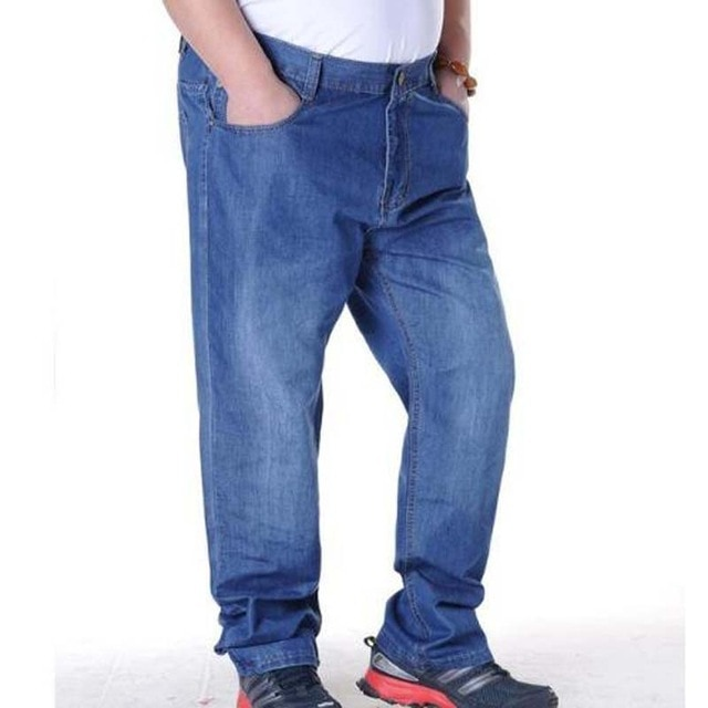 Jeans Men Plus Size 44 45 46 47 48 Designer Cotton Stretchy Denim