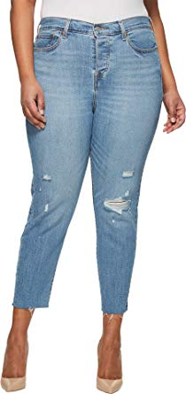 Levi's Women's Plus-Size Wedgie Jeans, Blue Spice, 46 (US 26) at