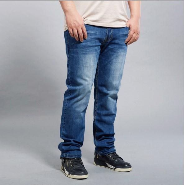 2019 Men Summer Stretch Thin Jeans Plus Size 44 46 48 Spring Autumn
