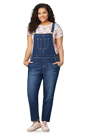 Amazon.com: WallFlower Plus Size Stretch Denim Overalls: Clothing