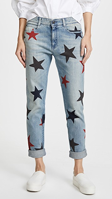 Stella McCartney The Skinny Boyfriend Jeans with Stars | SHOPBOP