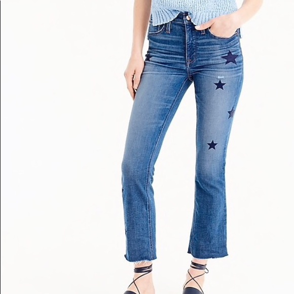 J. Crew Jeans | J Crew Boot Crop Denim With Stars | Poshmark