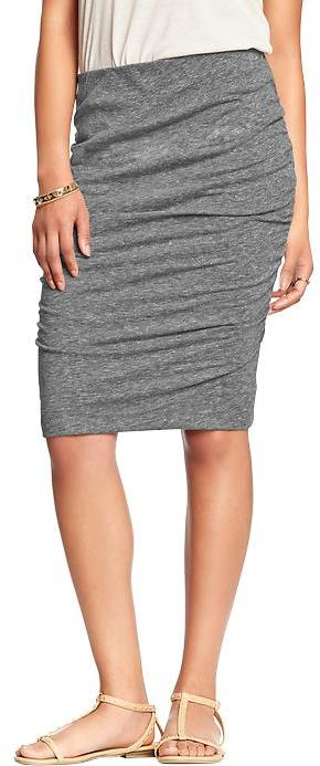 Old Navy Ruched Jersey Skirts, $29 | Old Navy | Lookastic.com