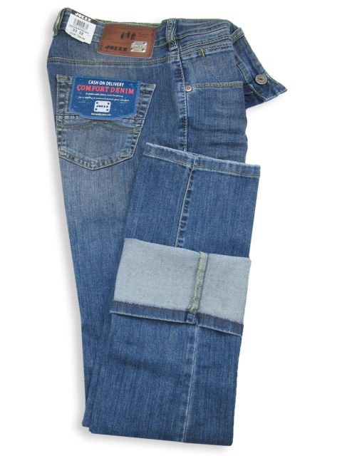 Joker Jeans Freddy Blue Wrinkle Comfort Denim 40 EU 36 US 5 UK 3 AU