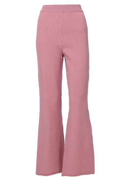 Shania Soft Knitted Pants - Dusty Rose - Poplook.com