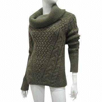 Women's Knitted Sweater with Turtle Neck | Global Sources