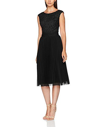 Laona Damen Kleid Cocktail Dress Schwarz Black 127 34