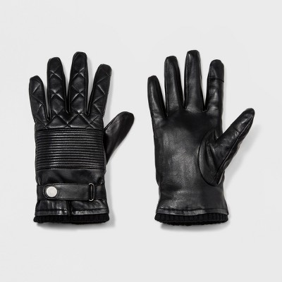 Men's Leather Gloves - Goodfellow & Co™ Black : Target