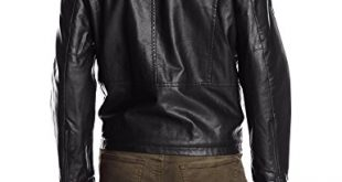 Levi's Men's Faux-Leather Jacket with Hood at Amazon Men's Clothing