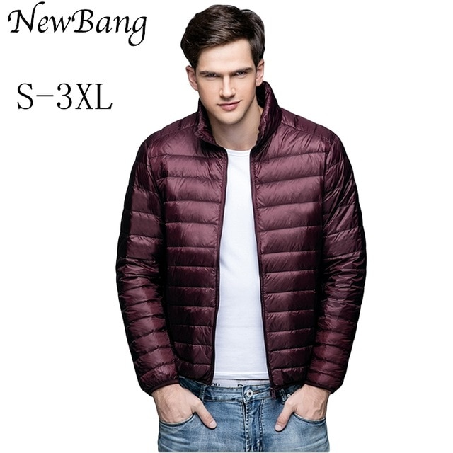 NewBang Brand Winter Men's Down Jacket Ultra Light Down Jacket Men