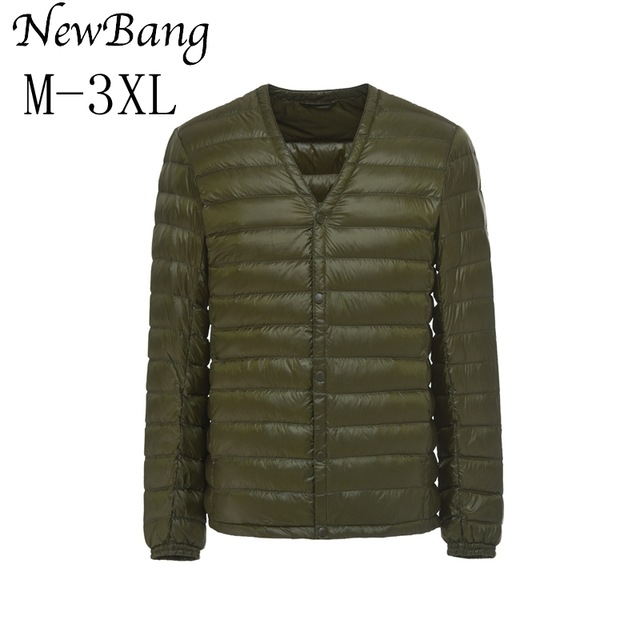 NewBang Brand Men's Down Jacket Ultra Light Down Jacket Men Slim