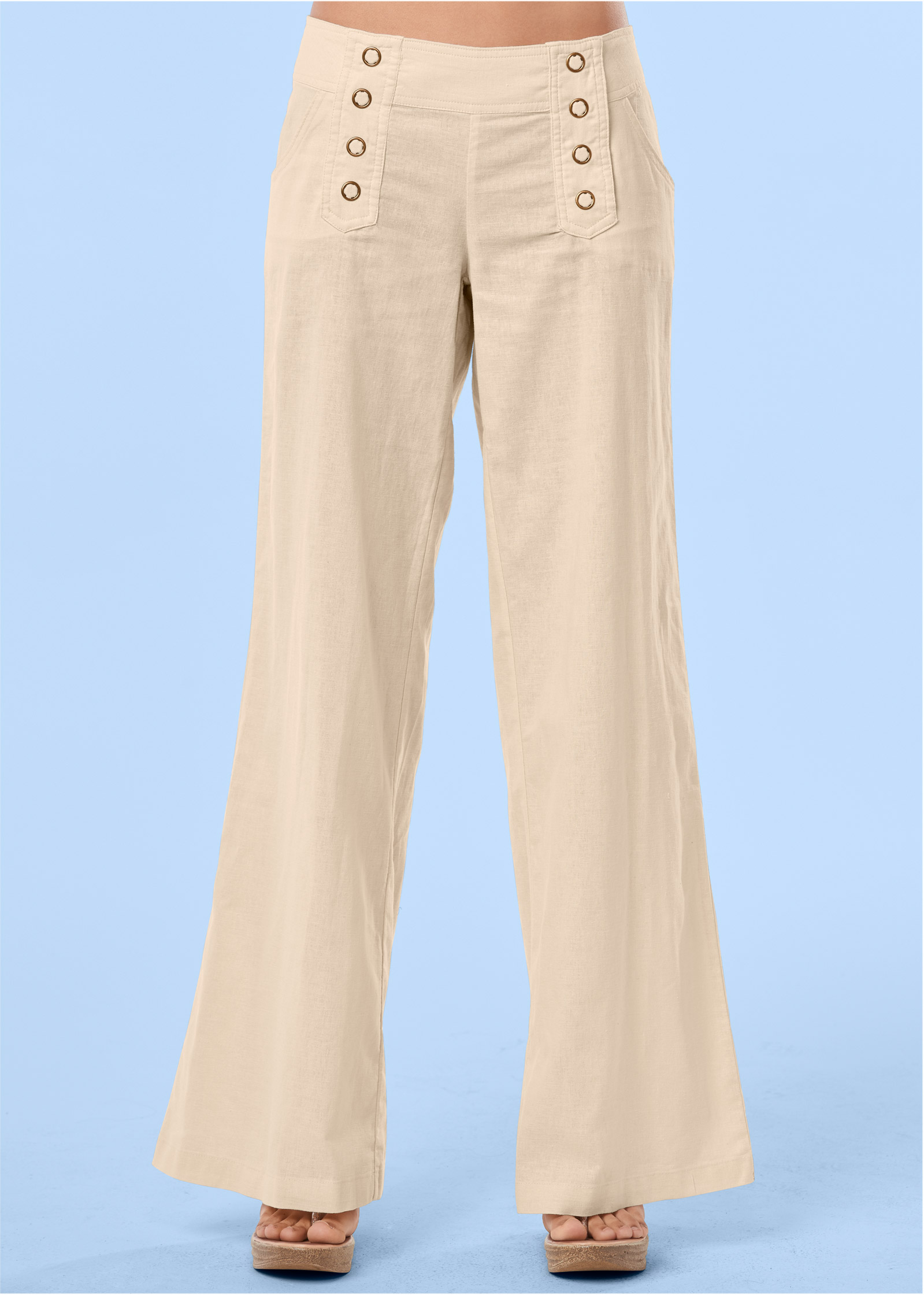 LINEN PANTS in Sand | VENUS