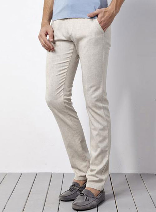 Pure Irish Linen Pants [Pure Linen Trouser] - $101 : StudioSuits