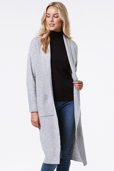 Long Cardigan With Pocket - Sweaters & Cardigans - Sales | TRISTAN