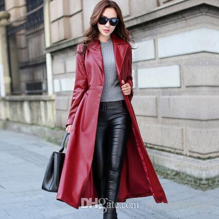 2019 2018 Spring Autumn Women Leather Jacket Fashion High End PU