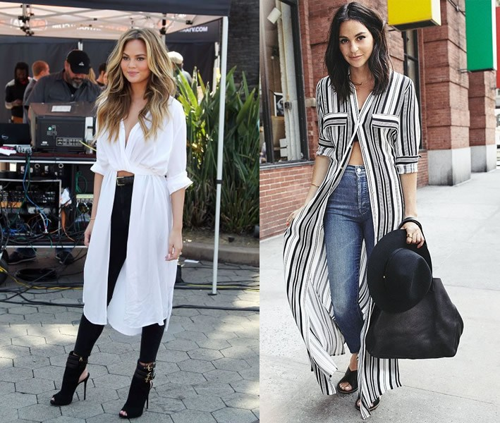 12 Amazing Ways on How to Wear Long Shirts for Women - FMag.com