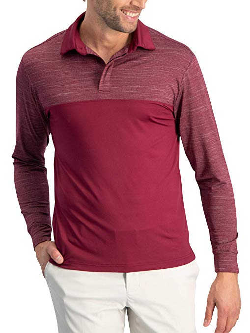 Amazon.com: Jolt Gear Long Sleeve Polo Shirts for Men - Men's Long