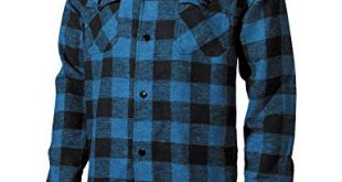 Fox Outdoor Men's Lumberjack Shirt Blue/Black at Amazon Men's