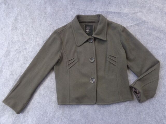 Marc Cain Object of Love olive/loden green knit, soft wool jacket