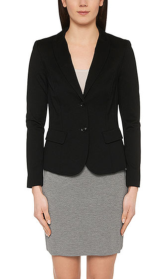 Light blazer in fine jersey | marc-cain.com/en