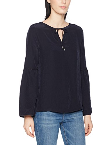 Marc Cain Sports Damen Bluse GS 51.10 W76, Blau (Midnight Blue 395
