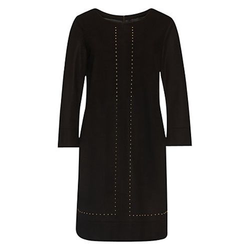 Rb1479797 Marc Cain Women Clothing Stud Detail Dress Dark Morrow
