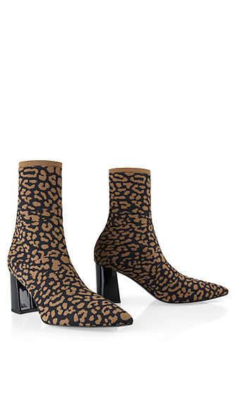 Ankle boots in knitted design | marc-cain.com/en