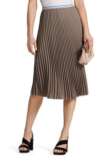 Midi skirt with pleats | marc-cain.com/en