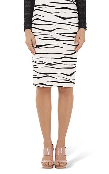 Marccain Zebra Knit Skirt u2013 Oscar and Wild