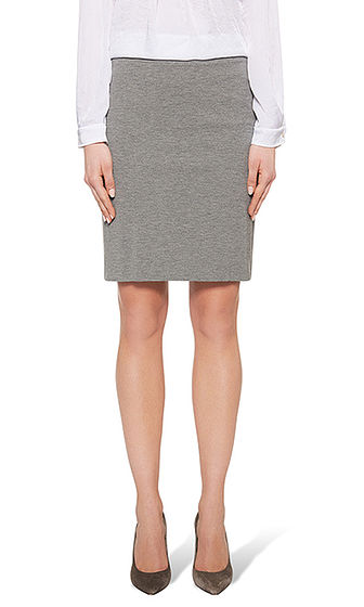 Mottled basic skirt | marc-cain.com/en