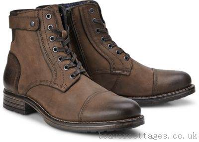 Marc O'Polo Boots Boots Lace-Up Mens Shoes Brown-Light At The Cheap