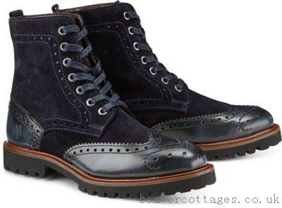 Womens Shoes Marc O'Polo Boots Dark Blue Lace-Up Boat - £70.23