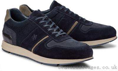 Marc O'Polo Blue Dark Brogues Mens Shoes Lace Up Are A Stylish