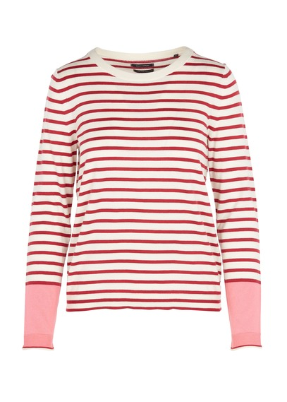 MARC O'POLO Striped round-neck sweater Red