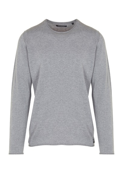 MARC O'POLO Round-neck cotton sweater Grey