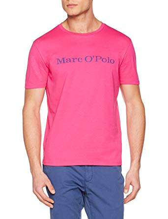 Marc O'Polo Men's 823222051230 T-Shirt, Violett (Poppy Pink 645), L