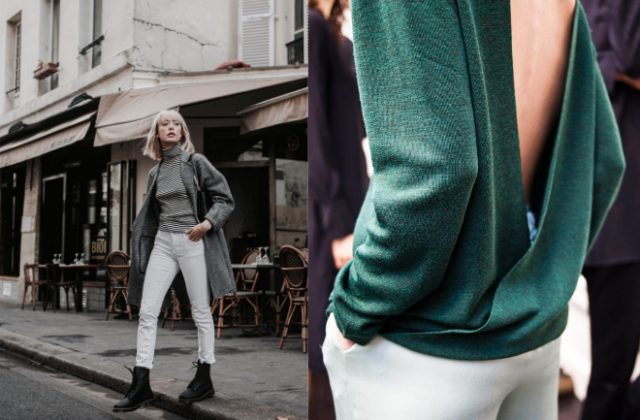 How to wear white pants in fall and winter | Dress like a parisian