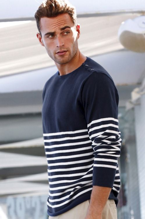 This is how you wear a maritime/nautical style pullover. | clothing
