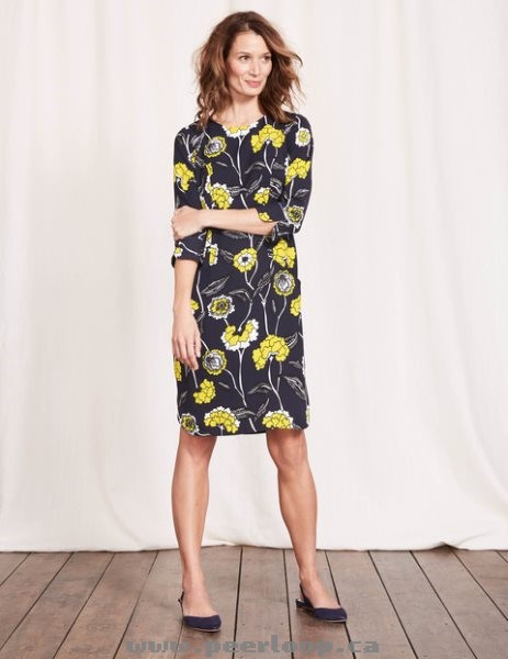 rovs643b5ygk Womens Boden Isabelle Dress Navy Maritime Floral Fashion