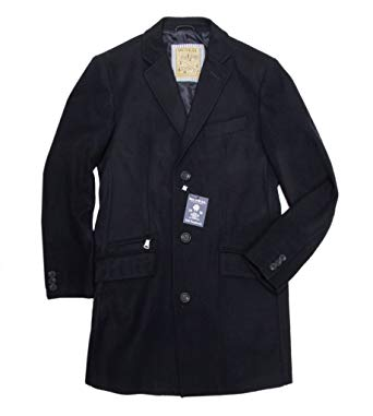 MCNEAL Men´s Single Breasted Overcoat Knee Length Modern Topcoat