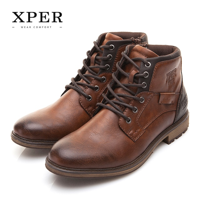 XPER Autumn Winter Men Boots Big Size 40 48 Vintage Style Men Shoes